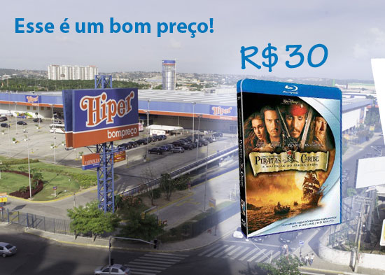 Blu-rays por 30 reais no Hiper Bompreço