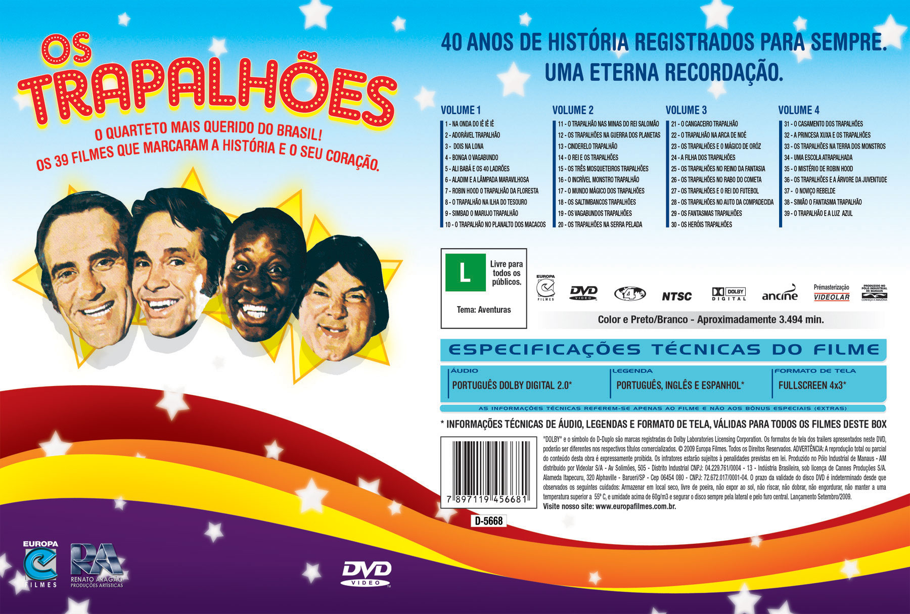 dvd completo dos trapalhoes