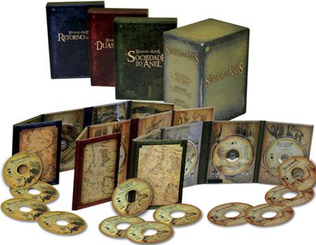 Dica rápida: Trilogia Estendida Senhor dos Anéis em DVD por R$129,90!