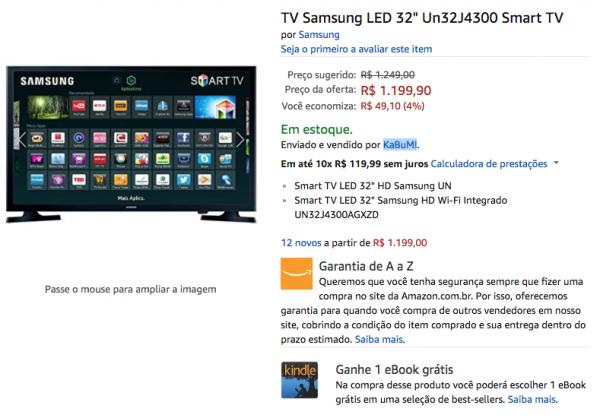 TV Samsung LED 32 Un32J4300 Smart TV: Amazon.com.br: Eletrônicos 2017-10-18 00-33-38